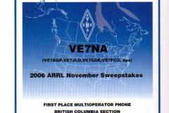 2006-ARRL-Sweepstakes-Award