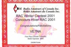 RAC-Canada-Winter-Contest-2001