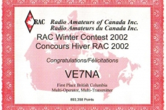 RAC-Canada-Winter-Contest-2002
